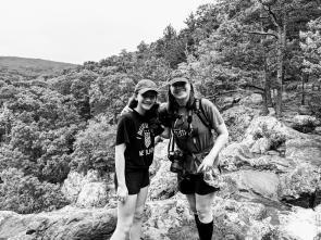 Allison and Sonia hiking with me @ Mina Sauk Falls.